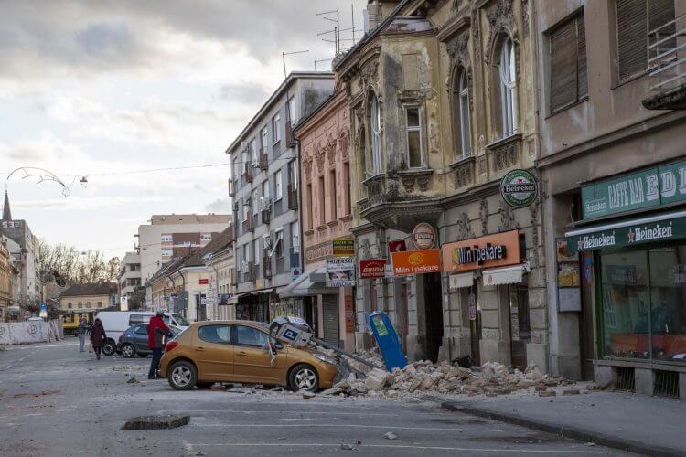 Potresom pogođena područja