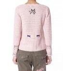 Crochet ming jacket i lite rose
