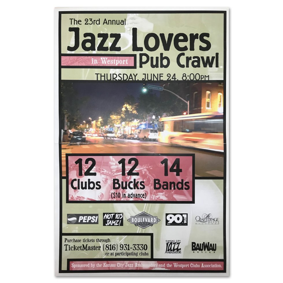 Jazz Lovers Pub Crawl Poster