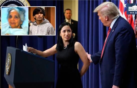 Trump usa nieta de dominicana asesinada en Queens para atacar inmigrantes irregulares