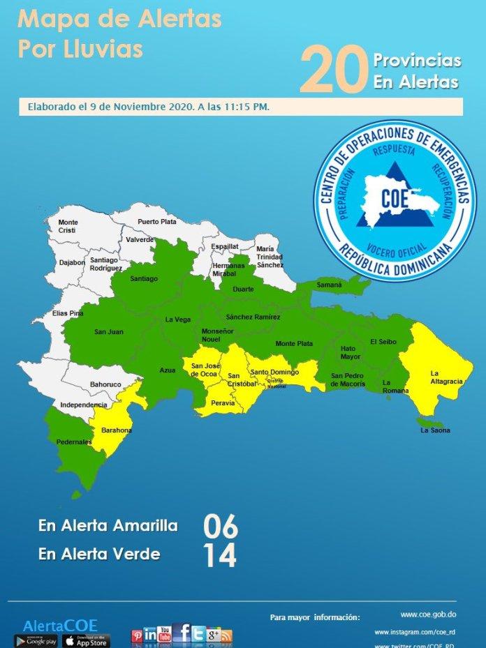Se mantienen en alerta 20 provincias por incidencia de vaguada