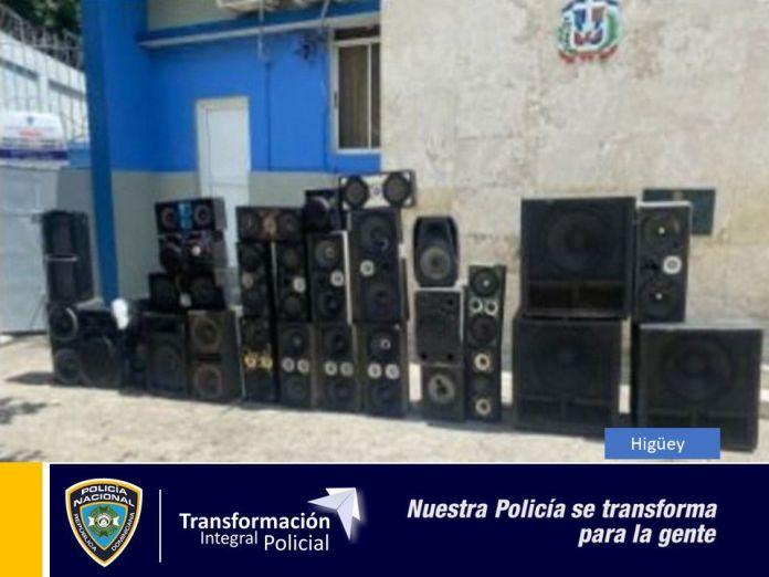Incautan más de 20 equipos de sonido por contaminación sónica en Higüey