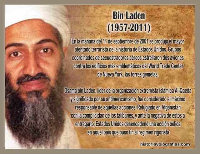BIOGRAFIA DE OSAMA BIN LADEN-EL TERRORISMO DE AL QAEDA Y LOS TALIBANES