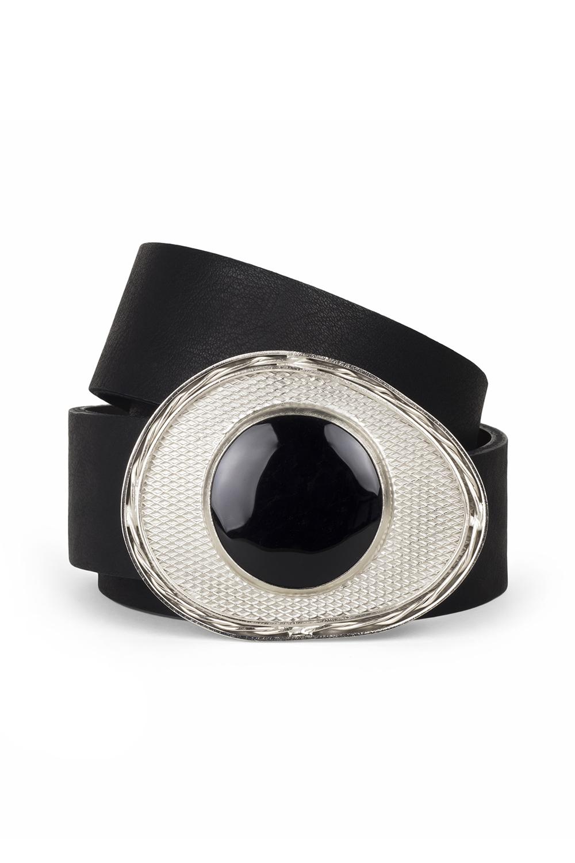 Violet Silver Black Stone Belt