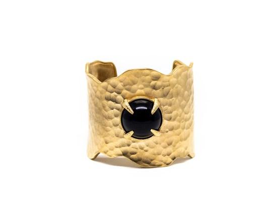 gold pleated cuff