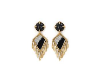 Corfu Earrings Black