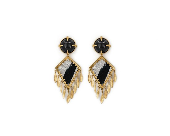 Corfu Earrings Black