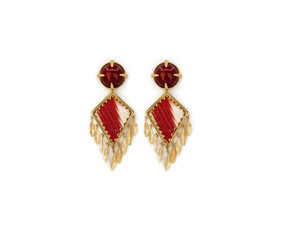Corfu Earrings Red