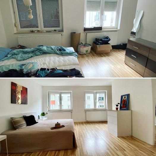 Endreinigung und Home Staging: Vorher und Nachher