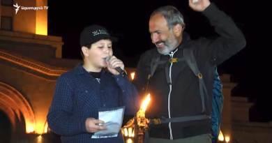 11-ամյա Սարգիսը «ոստիկաններին և ժողովրդին» նվիրված ռեփ է կարդում