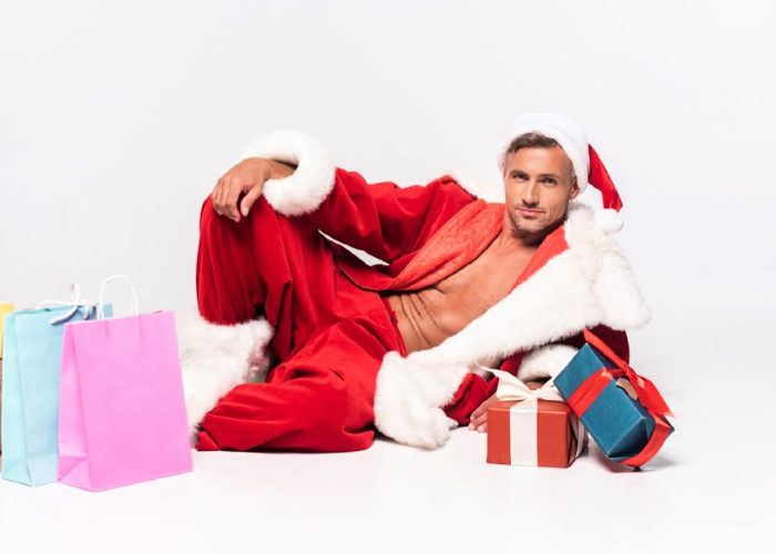 Sexy Santa has all your naughty Black Friday Deals
