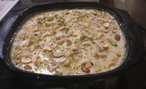 6. Garnish with Almonds and Pistachios