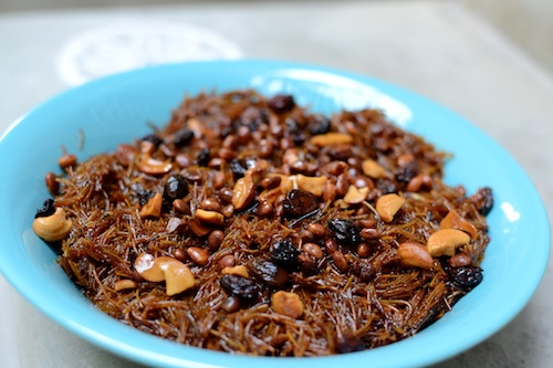 Add crushed dry fruits to Sev
