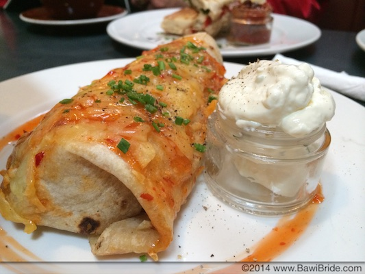 Chicken and Bean Burrito at Vudu Cafe