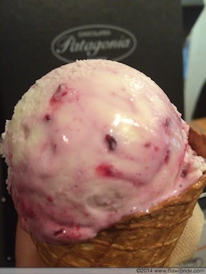 Mascarpone and Forest Berry Ice-cream at Patagonia