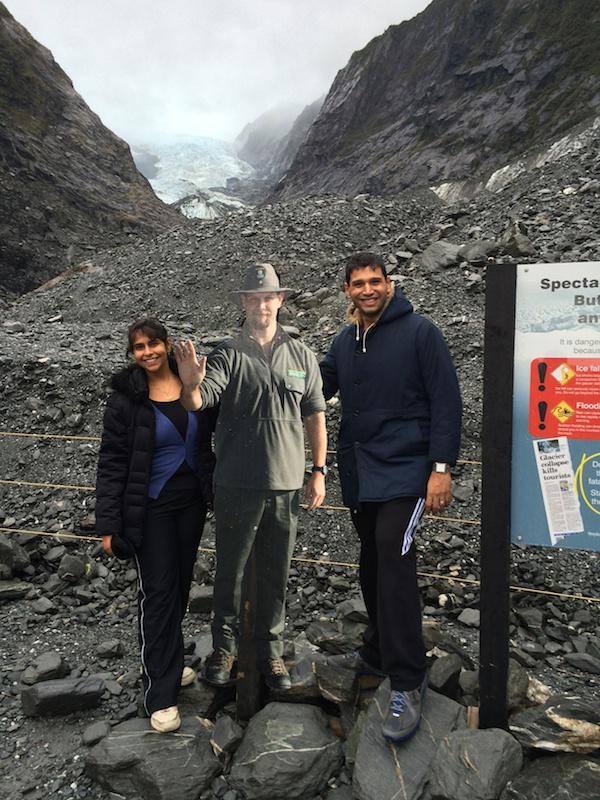 Terminal face of the Franz Josef Glacier