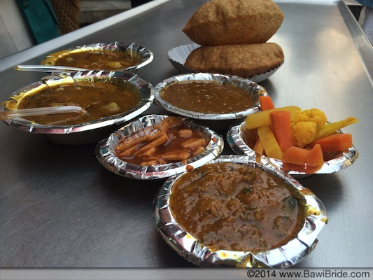 Bedmi Puri at Shyam's in Chawri Bazaar