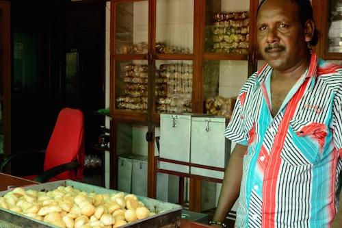Freshly baked Batasa at Irani Bakery