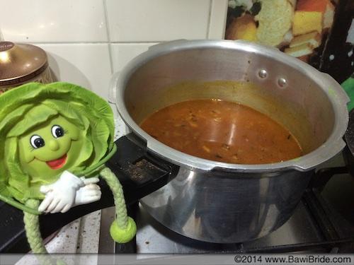 Cooking Masoor in pressure cooker