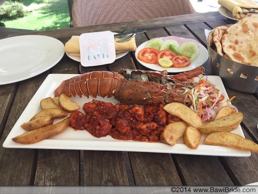 Lobster Recheado at Bay 15 Goa