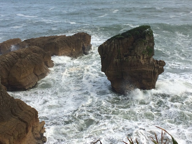 Wild waters at Punakaiki