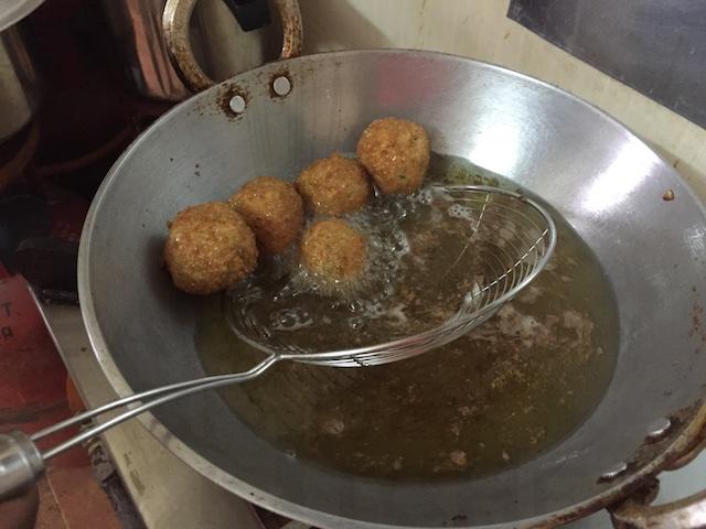 Deep Fry the Kera Kebabs