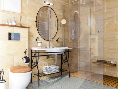 Badezimmerbeleuchtung mit Lichtakzenten