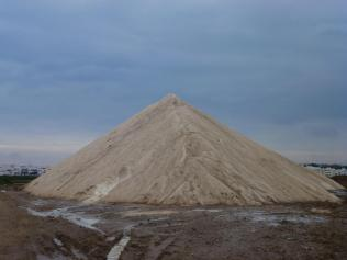 Salt mountain at Ria Formosa