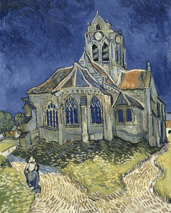 The Church in Auvers-sur-Oise, Vincent Van Gogh, Orsay Müzesi, Paris, Fransa