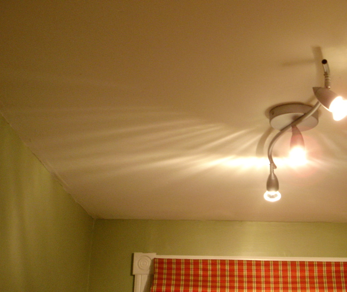 """The unremarkable """"before shot"""" made worse by the """"track lighting""""..."""