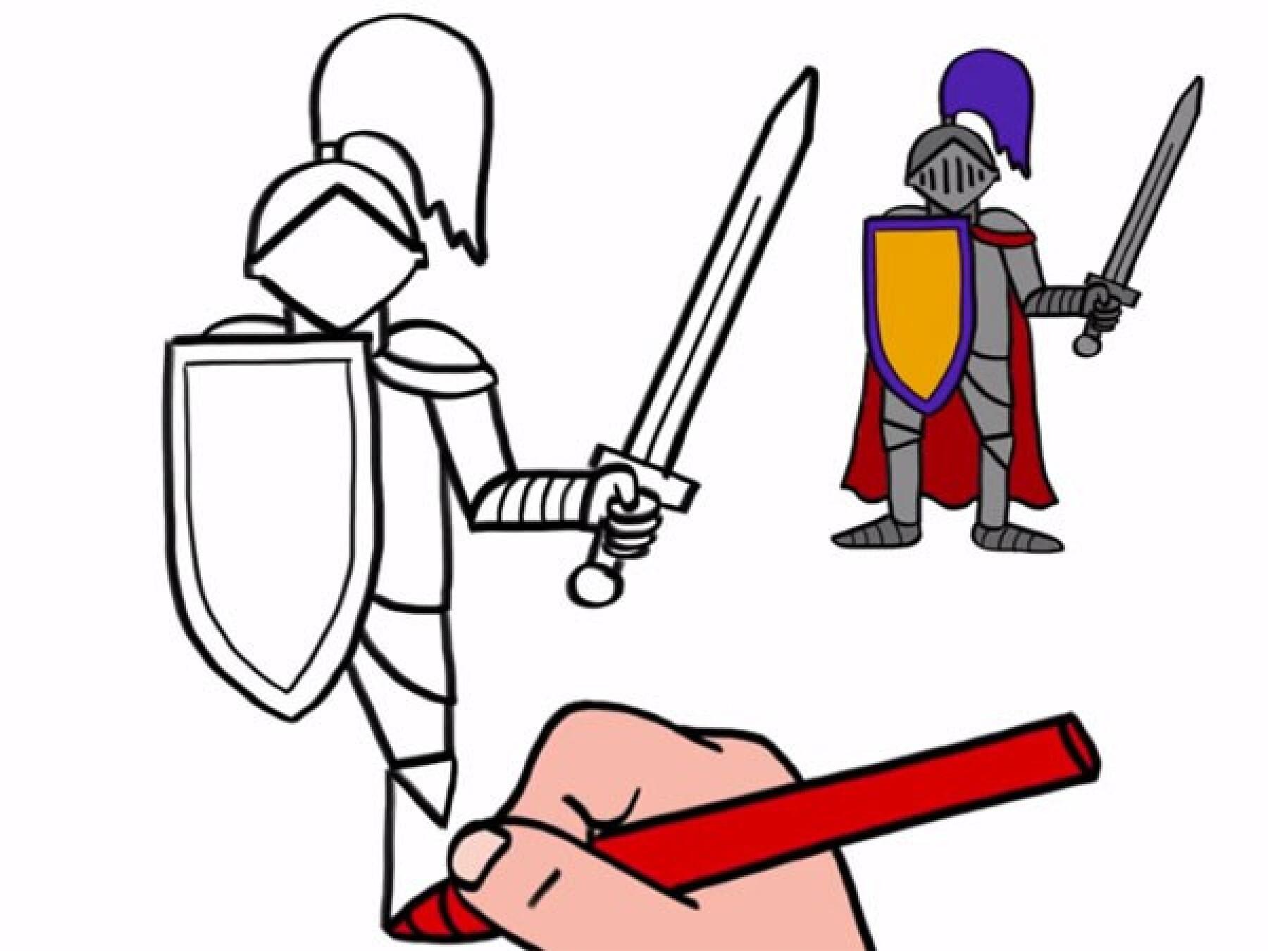 Comment Dessiner Un Chevalier
