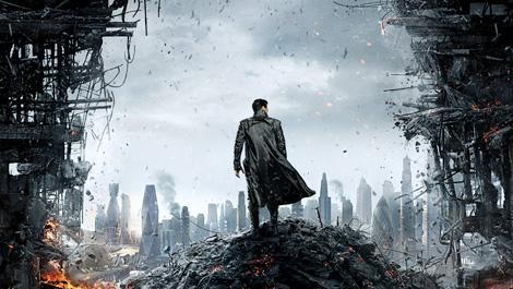Benedict Cumberbatch in the poster of Star Trek Into Darkness