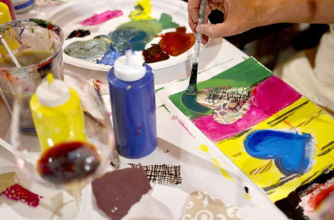 Lake Sonoma Winery Paint Night with Alex Cole