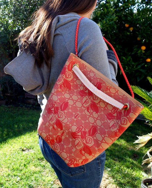 Cadette Handmade leather rose backpacl