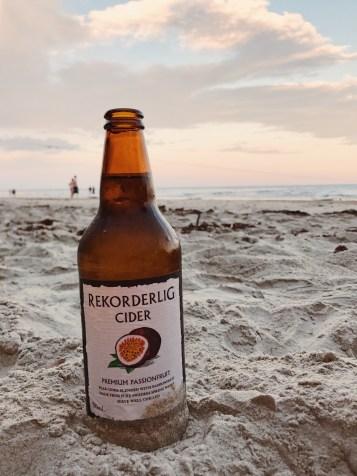 Port Douglas Beach Supermoon 2016 Rekorderlig passionfruit cider