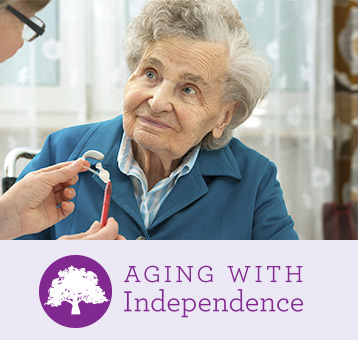 Aging with independence portrait