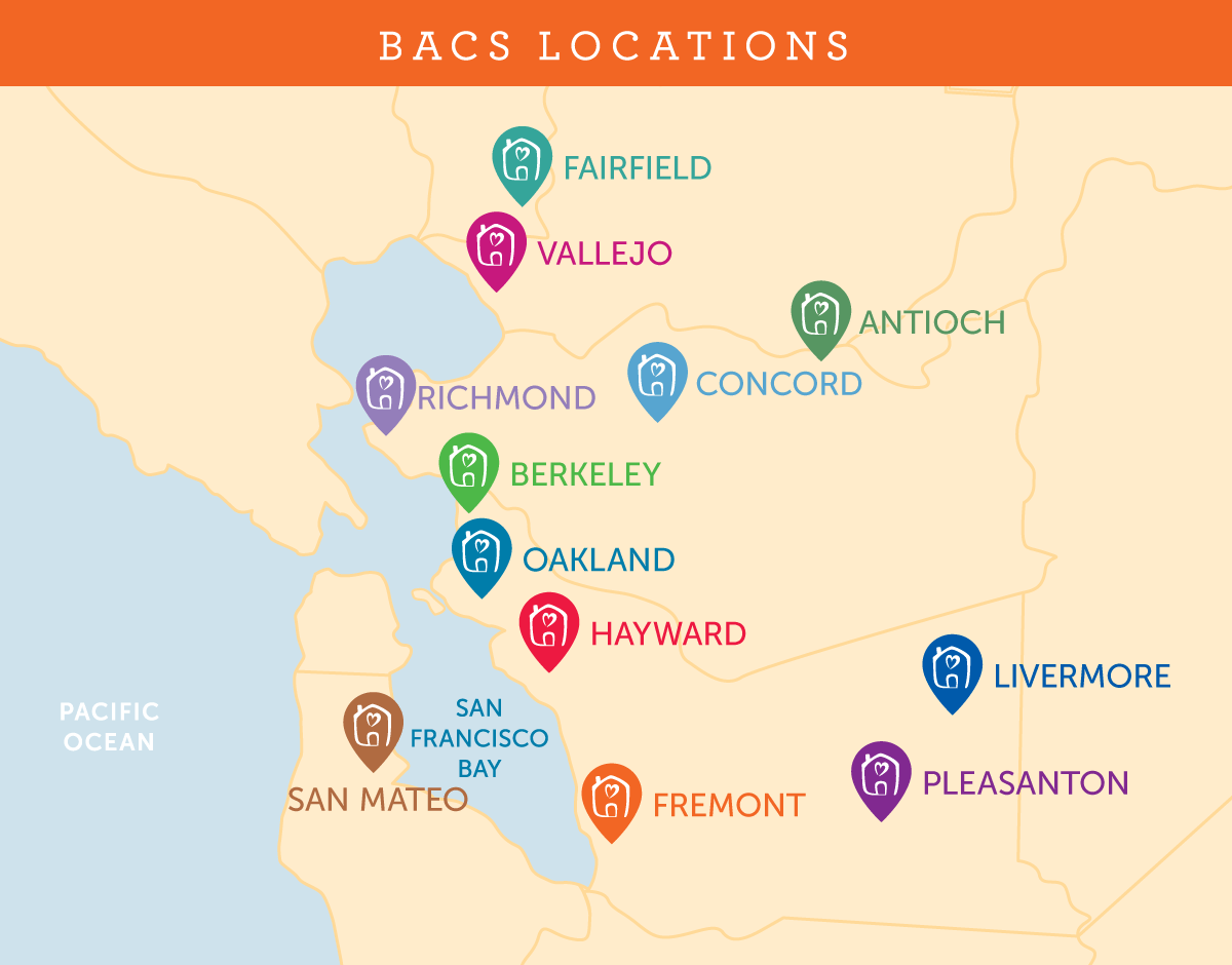 BACS location map 2020