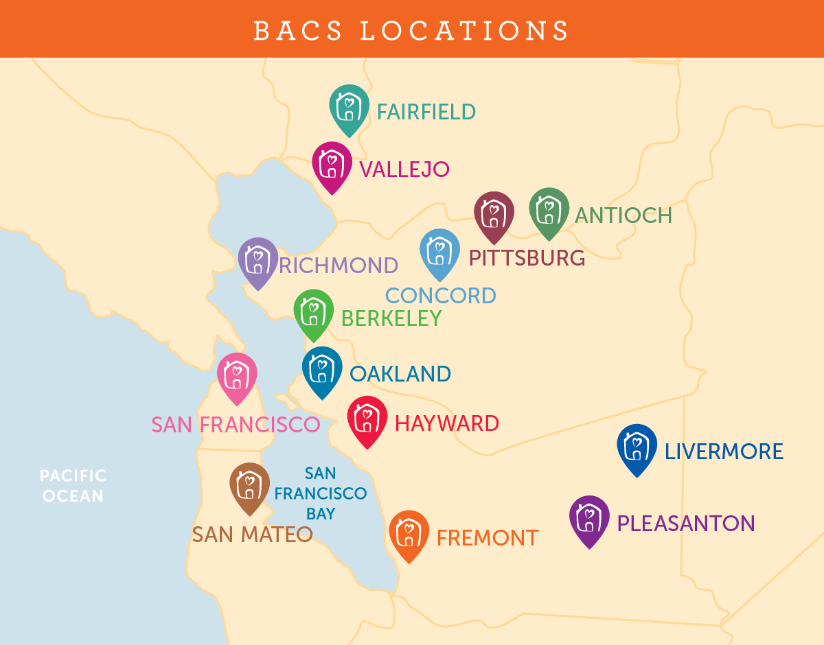 BACS location map 2020