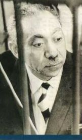 Sayyid Qutb on trial in 1966 under the Gamal