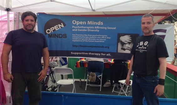 Christopher Corey and Daniel Clifford representing Open Minds at Folsom 2014