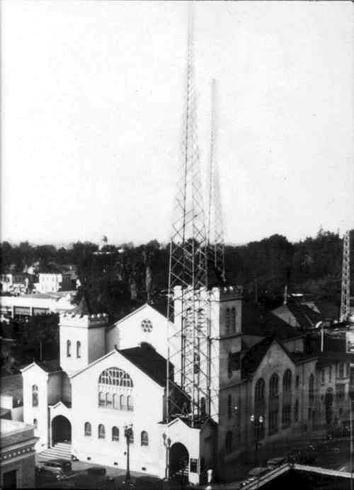 KQW Transmitter Towers (Photo)