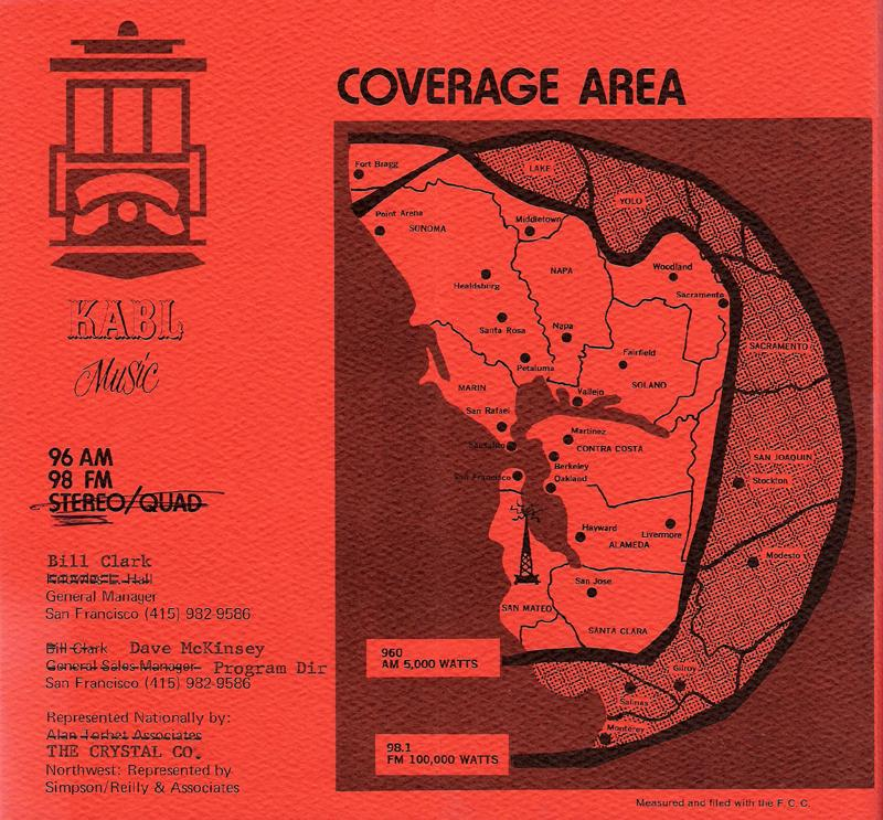 KABL Coverage Map (1978 Image)