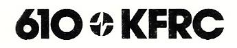 610 KFRC Logo (Circa 1978)