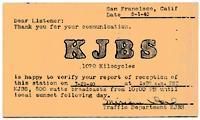 KJBS QSL Card (Image)