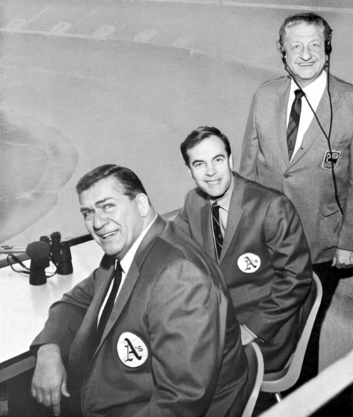 A's Radio Team (1968 Photo)