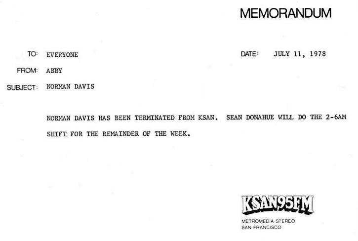 ksan_norman-davis-fired_memo_july-11-1978