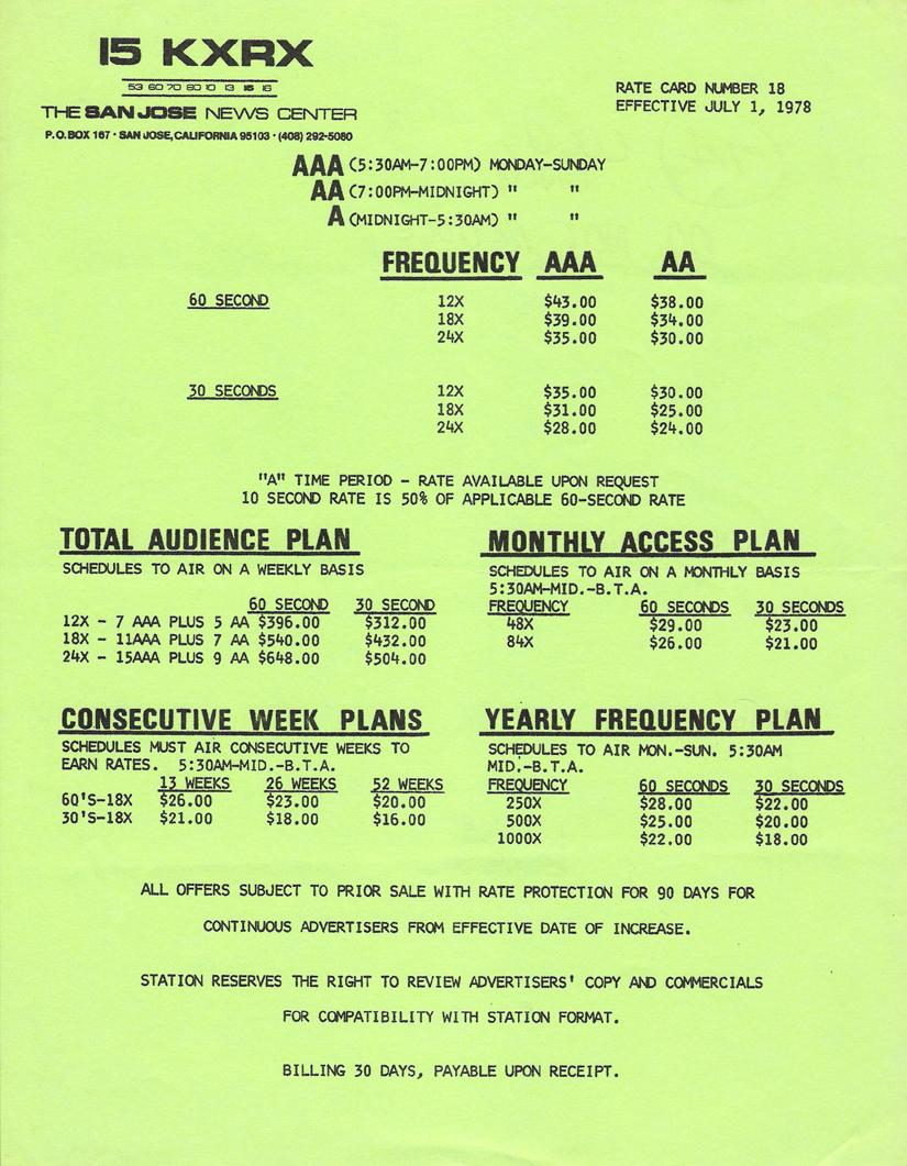 kxrx_rate-card_july-1-1978