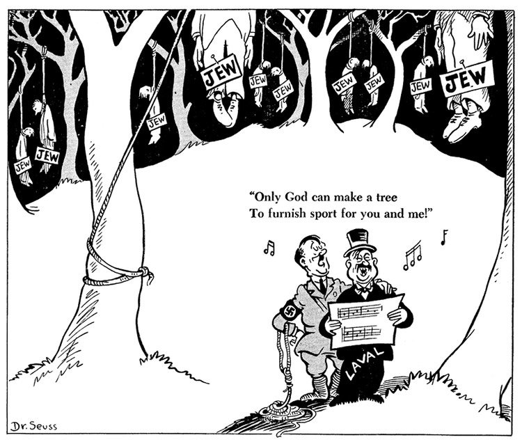 political cartoons by Dr. Seuss that are still relevant today.