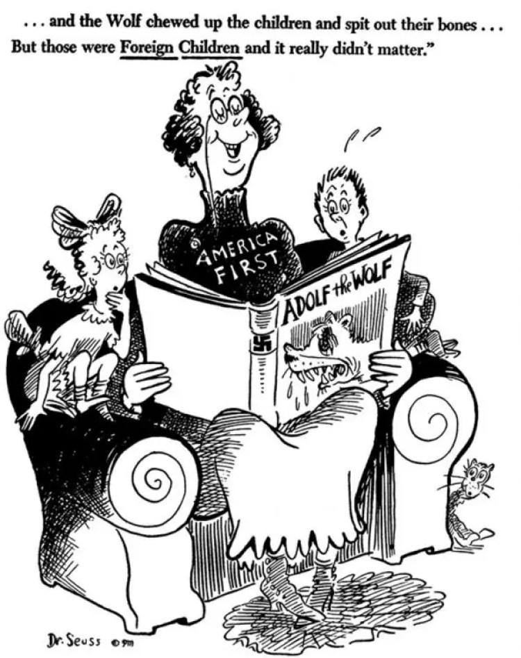 political cartoons by Dr. Seuss