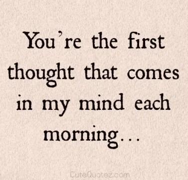 romantic morning quotes